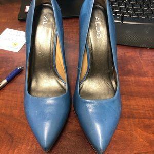 Aldo Cobalt Blue Heels - Size 39 (9)